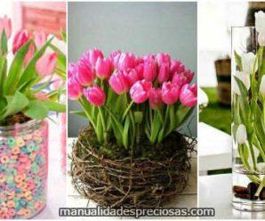 Hermosos Arreglos con Tulipanes