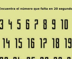 Encuentra el Número que Falta; Tienes 20 Segundos