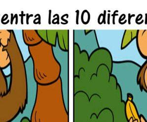 Encuentra 10 diferencias en solo 2 minutos