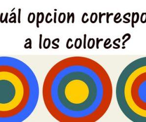 ¿Cuál opción corresponde a los colores?