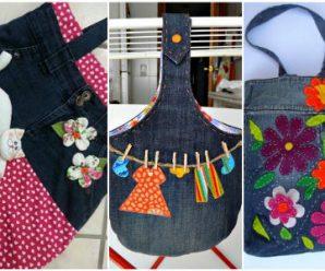 15 Ideas para Convertir tus Jeans Viejos en Increíbles Bolsas